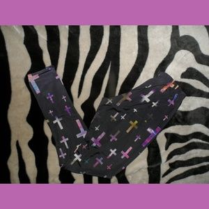 Galaxy Space Cross Leggings Rue 21
